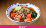 1 for 1 Specialty Noodles at Delibowl via Fave (previously Groupon)