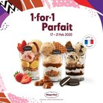 1 for 1 Parfait at Häagen-Dazs