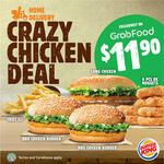 Large Fries, 2x BBQ Chicken Burgers, Long Chicken Burger & 6pcs BK Nuggets for $11.90 + Delivery at Burger King via GrabFood
