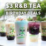 R&B Tea's Brown Sugar Boba Milk with Cheese Brûlée $3 19 – 21 September