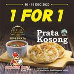 1 for 1 Prata Kosong at Casuarina Curry (Macpherson Road)
