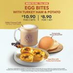 2 x Egg Bites with Turkey Ham & Potato + Salted Caramel Latte for $10.90 at The Coffee Bean & Tea Leaf
