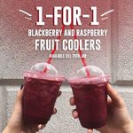 1 for 1 Blackberry and Raspberry Fruit Cooler Drinks at Costa Coffee