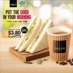Sandwich and Coffee for $3.80 at Cheers, FairPrice Xpress and Selected Esso Service Stations (5am to 11am Daily)