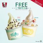 1 Free Topping with Any Froyo Purchase at KFC