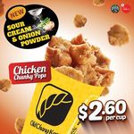 Chicken Chunky Pops with Sour Cream & Onion Powder for $2.60/Cup at Old Chang Kee