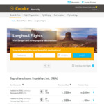 Singapore to Frankfurt, Germany €459.98 (~ $733 SGD) Return via Condor Airlines