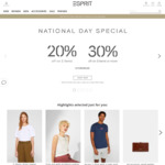 20% off on 2 Items or 30% off on 3+ Items at Esprit