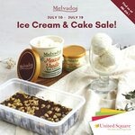 4 Pcs Tray Cake and Any 470ml Ice Cream or Sorbet for $16.90 (U.P. $20.80) at MELVADOS in United Square