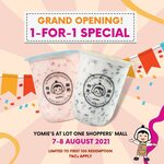 1 for 1 Drinks at Yomie's (Lot One Shoppers Mall)