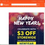 $3 Off Storewide at Shopee (Min Spend $10)