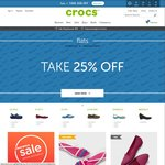 25% off All Full Priced Flats at Crocs