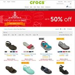Crocs up to 50% off End of Season Sale, Plus a Further 10% off 2 Pairs or 15% off 3+ Pairs