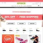 20% off Full Priced Items + Free Shipping Sitewide with No Minimum Spend at Crocs