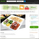 Bento Box Plus a Drink for $6.90 (U.P. $9.30) at QQ Rice via Groupon