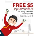 Bonus $5 CapitaVoucher with Every Reservation Booked & Attended at Eatigo