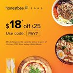 HonestBee - Get $18 off $25 on Food Delivery