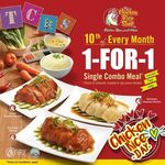 1 for 1 Single Combo Meal at The Chicken Rice Shop (Saturday 10th June) [Causeway Point/OneKM]