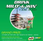 Win 1 of 3 Pairs of Return Air Tickets to Japan or 1 of 30 Subway Meals [Purchase Any Subway Meal with Iced/Hot MILO]