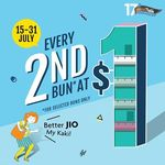 Every 2nd Bun from Selected Range for $1 at BreadTalk