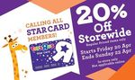 "20% off at Toys ""R"" Us (In-Store) [Star Card Members]"