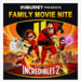 2 Tickets to The Incredibles 2 for $5 for 21/6 6pm