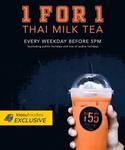 1 for 1 Milk Tea Every Weekday Before 5pm at Soi 55 (Instagram/Telegram Follow Required)