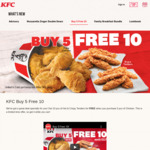 Buy 5pcs Chicken ($17.75), Get 10pcs Tenders Free ($13.70 Value) at KFC