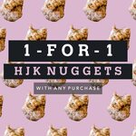 1 for 1 HJK Nuggets with Any Purchase at Everything with Fries