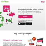 15% off First Purchase at Fave by Groupon