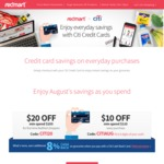 Redmart - Pay With Citi Credit Card Get $20 Off $100 Order (New Customers), $10 off $110 Order (Existing Customers)