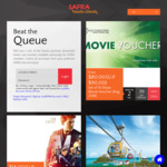 Set of 10 Shaw Theatres Movie Vouchers for $80 via SAFRA Treats (SAFRA Members)