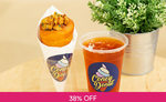 Salted Egg Popcorn Chicken Cone + Iced Tea for $4.80 (U.P. $7.80) at Coney Donut via Fave [previously Groupon]