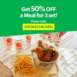 50% off a Meal Set for 3 ($11.35 with Free Delivery) at Otoke Chicken via GrabFood