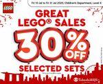 30% off Selected LEGO Sets at Takashimaya