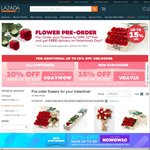Free Delivery of Flowers with Pre-orders at Lazada