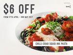 Chilli Crab Squid Ink Pasta for $10.90 (U.P. $16.90) at Saveur