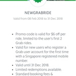 $6 off First Two Rides on Grab