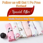 Free Muslin Bamboo Baby Towel Delivered from fireland via Shopee