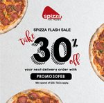30% off ($30 Minimum Spend) at Spizza