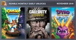 Humble November Bundle - Early Unlock: Call of Duty WWII, Crash Bandicoot N. Sane Trilogy, and Spyro Reignited Trilogy $16.55
