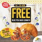 Free Blue Pea Nasi Lemak'O at Old Chang Kee (Paragon)
