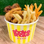 2pcs Shake Shake Chicken, 2 Flavoured Shoe String Fries & Flavoured Popcorn Chicken for $9.90 at Shake Shake In A Tub