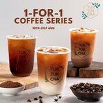 1 for 1 Coffee Series at Tuk Tuk Cha