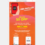 $5 off ($50 Min Spend) Sitewide at Shopee [DBS PayLah! Payments, Thursdays]