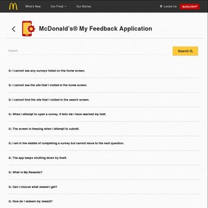 """Get Free McDonald's Items by Giving Feedback on Their """"My Feedback"""" App"""