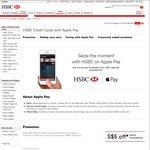 $5 Cashback for Every Apple Pay Transaction Over $10 Made with HSBC Credit Cards