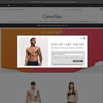 Calvin Klein 12.12 Promotion - 48% off All Selected Clearance Items + Free Shipping