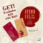 Free 6pk Ang Bao (Red Packets) from KOI Thé: Spend $15+ or Top Up $20+ on a KOI Card