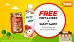 Free Yeo's Lychee Drink and Satay Sauce at Buzz Convenience Store, Centrepoint (Voucher) [Wednesday 12th to Sunday 16th April]